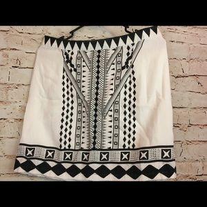 MinkPink eco warrior black white mini skirt small